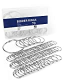 Binder Rings 1 Inch, 1.5 Inch, 2 Inch, 3 Inch, 70 PCS Book Rings Assorted Sizes, O Rings for Flashcards Loose, Metal Rings for Index Cards, Silver Loose Leaf Binder Rings for Paper by MoHern