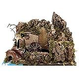 Holyart Mulino ad Acqua con Pompa e luci 35x50x30 cm per presepi 10-12 cm.