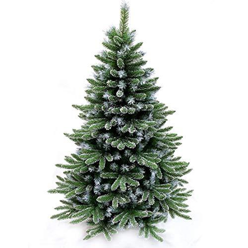 YOGANHJAT Árbol de Navidad Artificial Árbol Espeso Material PVC Natural nevado Soporte Metálico Árboles Soporte decoración Interior Fiestas económico Navidad decoración,Verde,120cm/3.9ft