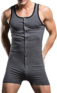 f8e361f36f Pottoa Herren Herren Unterhemd Unterwäsche, Baumwolle Einteilige Weste  Jumpsuit Sexy Unterwäsche Hause Pyjamas Sexy Tank