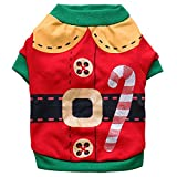 GINBL Pet Christmas Day Costumes for Small Dogs Shirt Puppy Christmas Father Costume