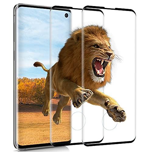 wsky Panzerglas für Samsung Galaxy S10, 3D Vollständige Abdeckung Schutzfolie, Anti-Kratzer, Anti-Öl, Anti-Bläschen, HD Displayschutzfolie für Samsung S10 [2 Stück]
