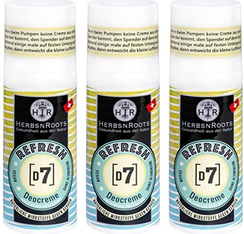 GERUCH-KILLER ohne Aluminium • Damen & Herren Deo • Deocreme • Deo-Schutz • langanhaltend • Antitranspirant • Pflegedeo • Creme-Spender • Vegan • Naturkosmetik • Cremedeo • HerbsnRoots 3x