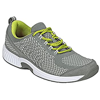 Orthofeet Proven Plantar Fasciitis Foot and Heel Pain Relief Extended Widths Orthopedic Walking Shoes Diabetic Bunions Women's Sneakers Coral Grey