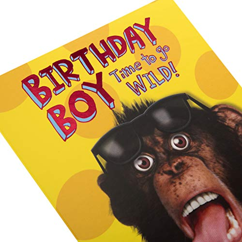 Birthday Boy Card from Hallmark - Photographic Humour Design