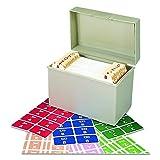 Smead AlphaZ ACCS Color-Coded Alphabetic Labels, Letters A-Z, Assorted Colors, 2200 Labels per Box (67170)