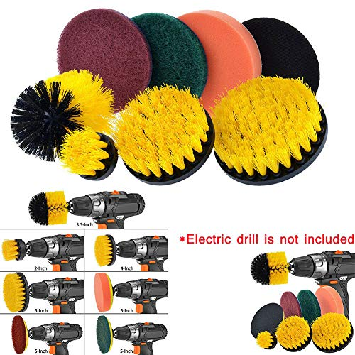 Learn More About CURE SECRET 8 Pack Drill Brush Attachment Set Power Scrubber Brush Cleaning Kit wit...