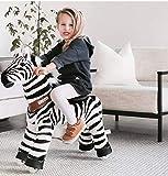 PonyCycle Officiel Classique U Série Balade à Zebra Jouet Animal en Peluche Animal Qui Marche Zebra pour Les Enfants de 4 à 9 Ans Taille Moyenne U468