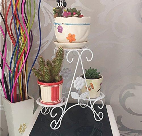 Support de fleur en métal Flower stand Iron art Bureau fleur pot étagère Multi-couche fleur stand salon (style : C)