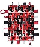 Future Tailgater Texas Tech Red Raiders Sensory Tag Minky Blanket
