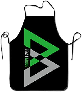 Unisex Beast Mode Logo Marshawn Lynch #24 Football Kitchen Cooking Grilling Apron Neck Straps Without Pockets Adjustable