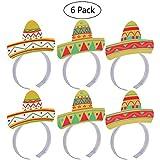 Hut Headbands luoem 6pcs Fünf Mai Fiesta Party Colorful Hut Headbands Accessories