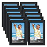 Icona Bay 4x6 Picture Frames (12 Pack, Black) Picture Frame Set, Wall Mount or Table Top, Set of 12 Inspirations Collection