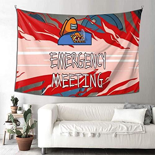YeeATZ Among Us Tapiz artístico cómodo tapiz artístico para colgar en la pared, tapiz para decoración del hogar, 90 x 60 pulgadas