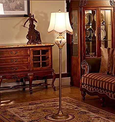 CLJ-LJ - Lámpara de pie LED para salón, estilo europeo, dormitorio, lámpara de pie creativa, lámpara de pie, para el cuidado de ojos americanos verticales