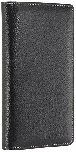 StilGut Talis Schutz-Hülle für Huawei P9 Plus mit Kreditkarten-Fächern aus echtem Leder. Seitlich aufklappbares Flip Case in Handarbeit gefertigt für das Original Huawei P9 Plus, Schwarz - 5