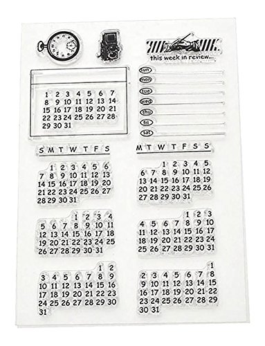 Blue Vesse Neue Kalender Transparent Clear Durable Stempel Cling Blatt DIY Seal Card Scrapbook