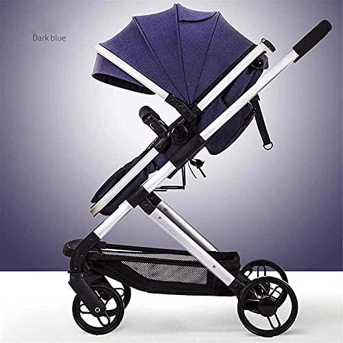 Duwen Sistema de viaje Cochecito anti-shock con respaldo ajustable Pastelero portátil para bebés con posición de mentira para retroceder hacia atrás y hacia adelante. Cochecito infantil con arnés de c