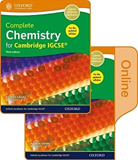 Complete Chemistry for Cambridge IGCSE® Print and Online Student Book Pack: Third Edition