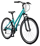 Schwinn Network 1 Womens Hybrid Bike,700c Wheels, 15-Inch Frame, 21 Speed, Alloy Linear Pull Brakes,...