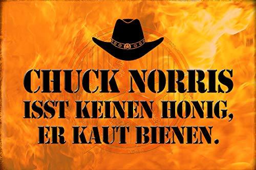 Schatzmix metalen bord spreuk Chuck Norris geen honing metalen bord wanddecoratie 20x30 tin sign