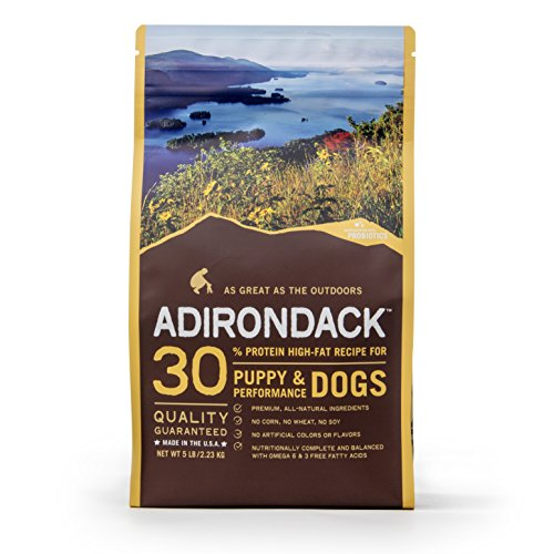 Adirondack Pet Food 22464 30% Protein High-Fat Recipe For Puppy & Performance Dogs, 15Lb.