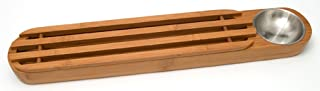 "Lipper International 8241 Bamboo Wood Bread Serving Board with Dipping Cup, 22.75"" x 4"" x 2"""