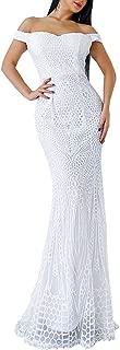 Best white sequin formal dress Reviews