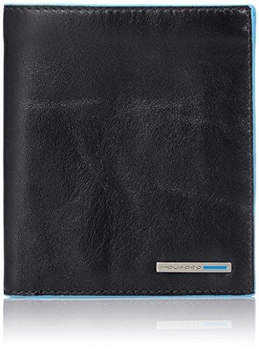 Piquadro PU3247B2/N Blue Square Portafoglio, Nero, 12 cm