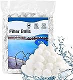 IKIEOSSY Bolas de filtro para piscina, 700 g, repuesto respetuoso con el medio ambiente para 25 kg de arena de filtro para piscina, bomba de filtro, filtro de arena de acuario