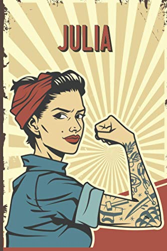 Julia: Strong Women Journal, Lined Notebook for Julia, Diary Gift for Girls and Women, Christmas and Birthday gift for Julia