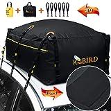 KING BIRD 100% Waterproof Roof Bag with External Non-Slip Mats, 20...