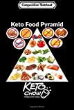 Composition Notebook: Keto food pyramid white logo dark colors Journal/Notebook Blank Lined Ruled 6x9 100 Pages