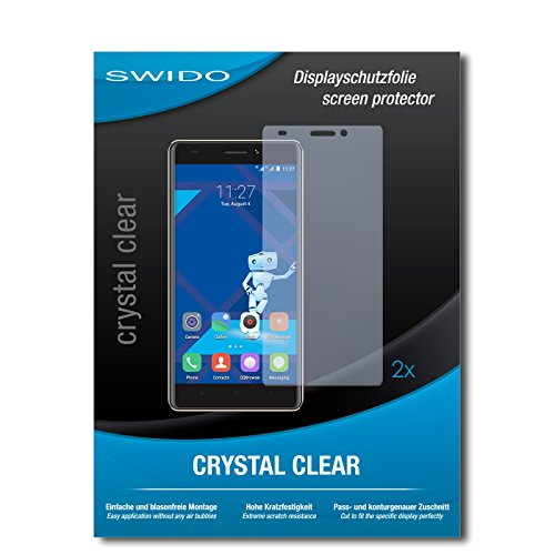 SWIDO Schutzfolie für Haier Phone L53 [2 Stück] Kristall-Klar, Hoher Festigkeitgrad, Schutz vor Öl, Staub & Kratzer/Glasfolie, Bildschirmschutz, Bildschirmschutzfolie, Panzerglas-Folie
