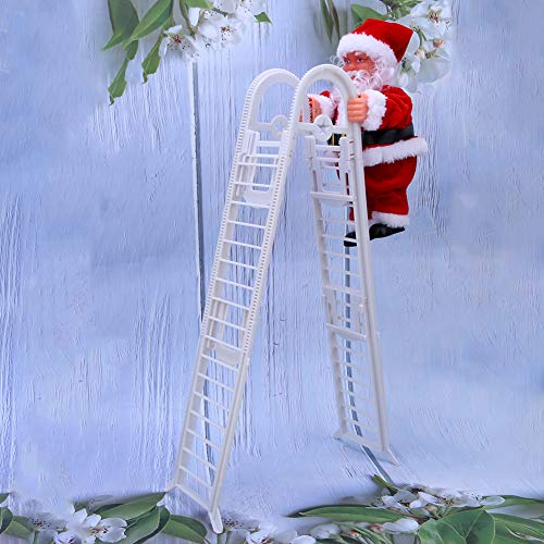 fuwinkr Weihnachtspuppe, exquisit mit Lichtern Musikpuppe, für Weihnachtsdekoration Weihnachtsdekoration(Upgraded Double Ladder (Sufficient Stock))