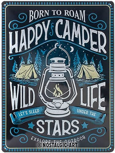 Nostalgic-Art Retro Tin Sign – 5 ☆ popular Happy Directly managed store for Gift Camp Camper idea