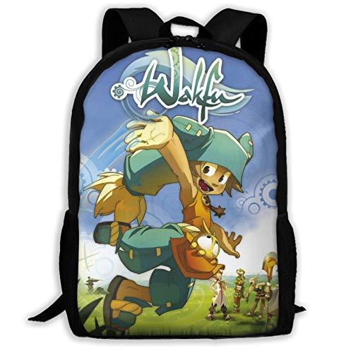 Yaqnsht Mochila de alta capacidad para adultos Wa-Kfu de 17 pulgadas, bolsa de la escuela, casual, viajes, senderismo, mochila de día