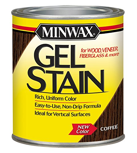 Minwax 260914444 Interior Wood Gel Stain, 1/2 pint, Coffee