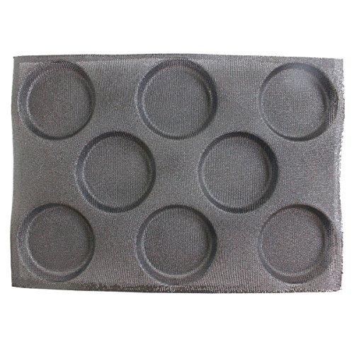 Baker Boutique Brötchen Backform Antihaftbeschichtetes Silikon Backform Liners Matte perforiert Brot Brötchen Form 8 Mulden