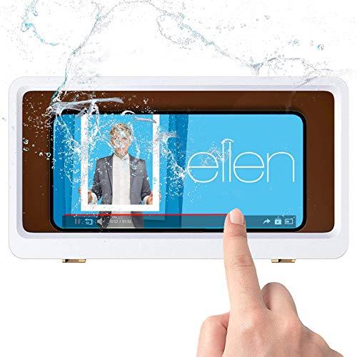 Enen Shower Phone Holder Waterproof Wall Mount Phone Holder Box Case for Bathroom Mirror Bathtub...