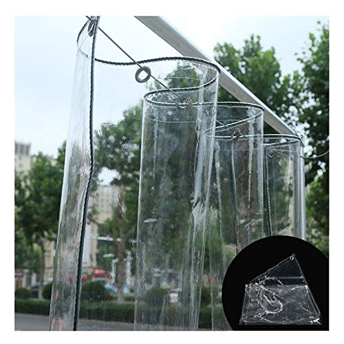 Lona Transparente Impermeable, PVC Transparente De 0.5MM A Prueba De Polvo A Prueba De Lluvia Planta De Jardín Anticongelante Lona De Camping, Varios Tamaños LvMyShe (Color : Claro, Size : 1.8x4M)