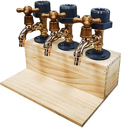 Whiskey wood Dispenser, Father's Day whisky drinking fountain faucet shape, suitable for parties, dinners, bar ,celebrations and beverage stations