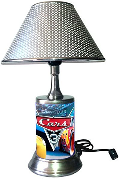 Cars 3 Lamp With Silver Colored Shade Disney S
