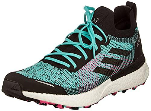 adidas Terrex Two Ultra Primeblue, Trail Running Shoe Hombre, Acid Mint/Core Black/Screaming Pink, 42 2/3 EU