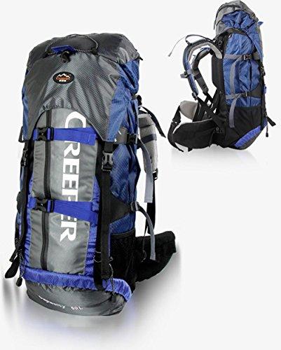 Sac à dos alpinisme en plein air sac à dos sac Équitation randonnée sac à dos 60L , blue 60 litres