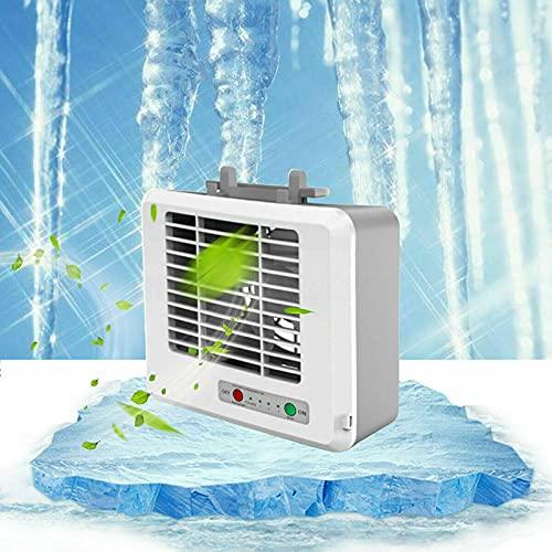 Qingxin Mini refrigerador de aire portátil USB recargable 3 velocidades ajustable ventilador de aire personal para oficina en casa
