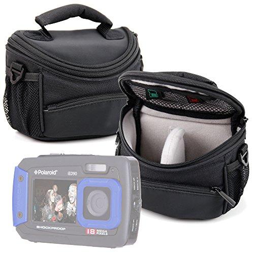 DURAGADGET Funda/Bolsa Protectora Negra para cámara Polaroid IE090, Polaroid iE126, Polaroid IE826 18MP, Polaroid IS525, Polaroid IX828, Polaroid Izone iE877, Polaroid Pogo