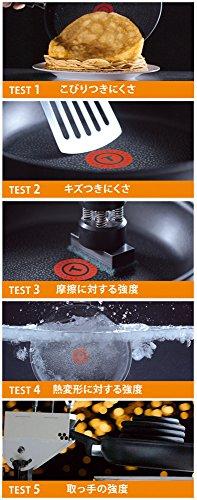 ティファールフライパン26cmIH対応「IHルビー・エクセレンスフライパン」チタンエクセレンス6層コーティングC62205取っ手つきT-fal