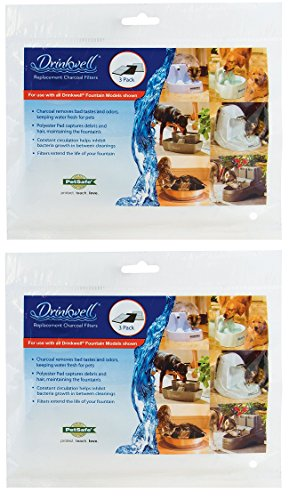 Replacement Dual Cell Carbon Filters for Cat Water Fountains, Fresh Filtered Water, Available in 3-Pack – PAC00-13067, 6-Pack, 9-Pack, 12-Pack