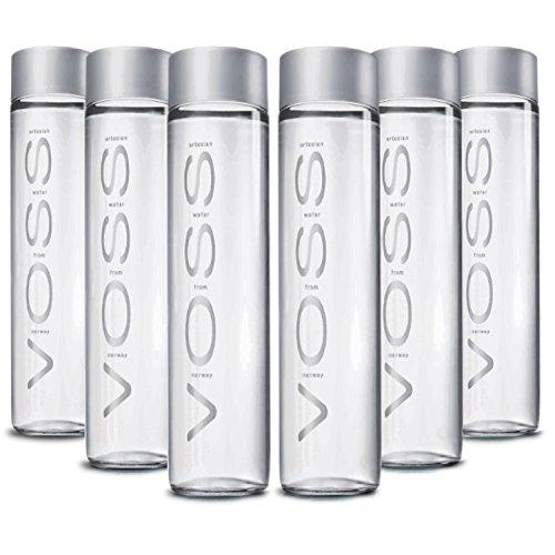 Voss Artesian Water Still Glass Bottle From Norway - Large 800 Millimeter/ 27 Ounce (6 Pack)